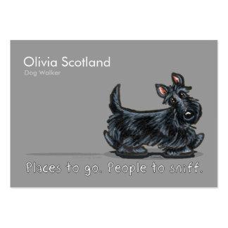 Scottie Dog Walking Pet Business Cards