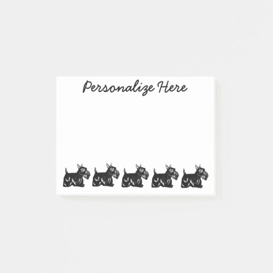 Scottie Dogs Personalized Post-it® Notes 4 x 3