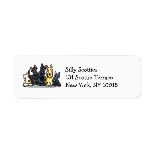 Scottie Five Return Address Label