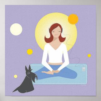 Scottie Gal Meditating - Poster