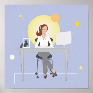 Scottie Gal Working - Poster