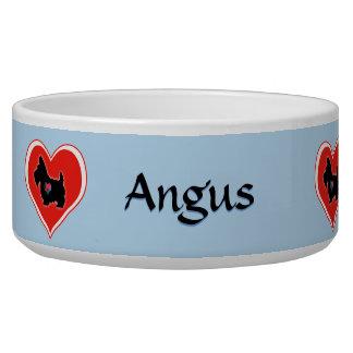 Scottie Heart Personalized Dog Bowl