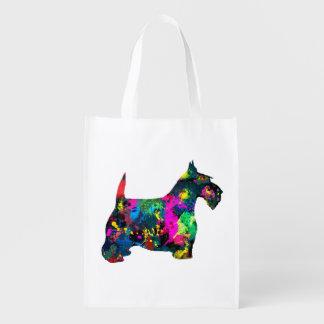 Scottie in Colors Reusable Grocery Bag
