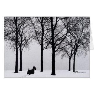 Scottie in Snowy Woods Card