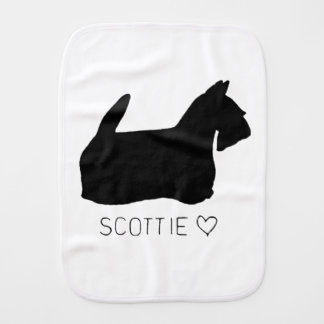 Scottie Love Baby Burp Cloth
