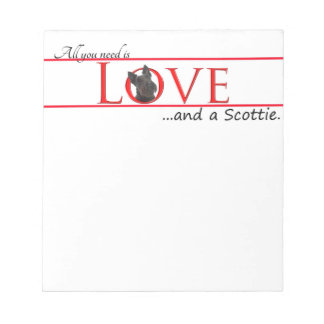 Scottie Love Notepad
