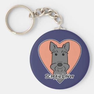 Scottie Lover Basic Round Button Keychain