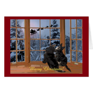 Scottie Merry Christmas Card