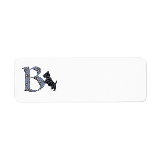 SCOTTIE Monogram B Address Labels