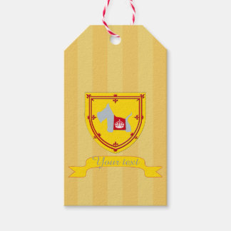 Scottie No 8 Gray Royal Crown Pack Of Gift Tags