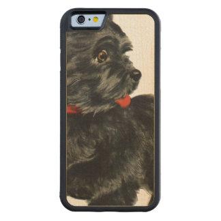Scottie noir coque iPhone 6 bumper en érable