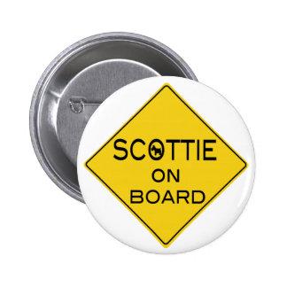 Scottie On Board Pinback Buttons