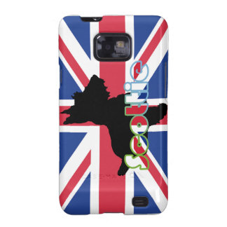 Scottie on the Union Jack Flag Samsung Galaxy SII Case