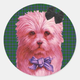 Scottie Round Sticker