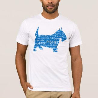 Scottie Scottish Slang Blue T-Shirt