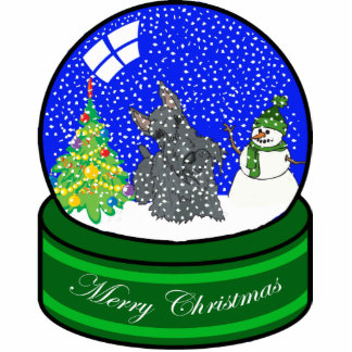 scottie snow globe photo sculpture ornament