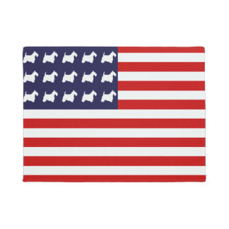 Scottie Stars and Stripes Doormat