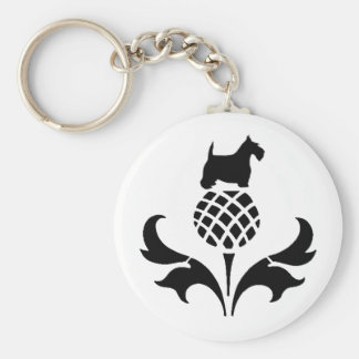 Scottie Thistle Keychain