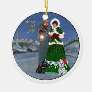 Scottie & Westie Family Ornament