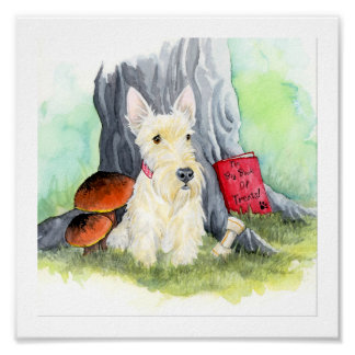 Scottie Wiggles in the Wood Poster