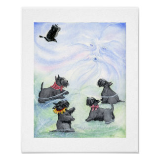 Scotties and the North Wind Poster