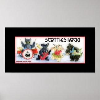 Scotties Rock Poster