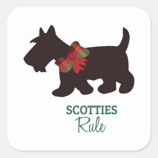 Scotties Rule Square Sticker