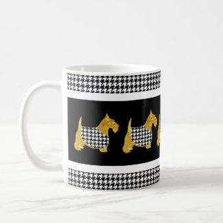Scotties With Houndstooth Jackets Coffee Mug