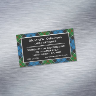 Scottish Accent Clan Colquhoun Tartan Magnetic Business Card