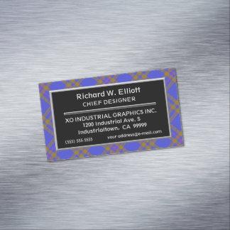 Scottish Accent Clan Elliot Elliott Tartan Magnetic Business Card