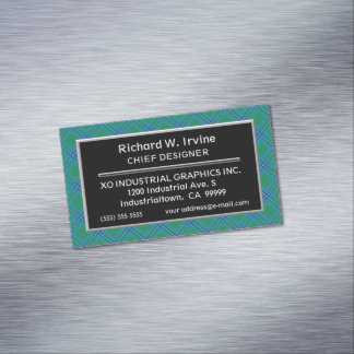 Scottish Accent Clan Irvine Irwin Tartan Magnetic Business Card