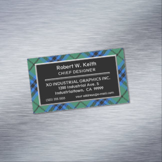 Scottish Accent Clan Keith Tartan Magnetic Business Card
