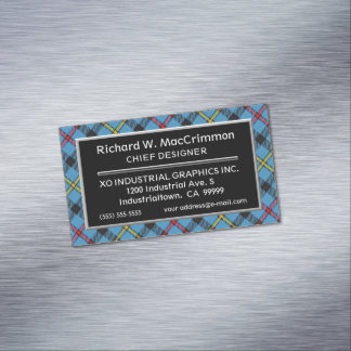 Scottish Accent Clan MacCrimmon Tartan Magnetic Business Card