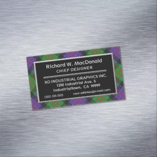 Scottish Accent Clan MacDonald Tartan Magnetic Business Card