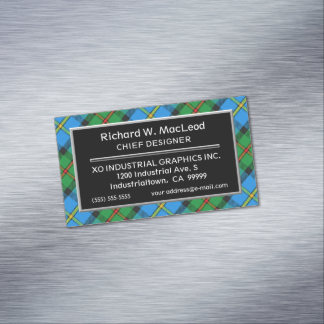 Scottish Accent Clan MacLeod of Harris Tartan Magnetic Business Card