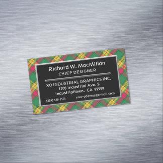 Scottish Accent Clan MacMillan Tartan Magnetic Business Card