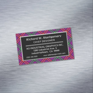 Scottish Accent Clan Montgomery Tartan Magnetic Business Card