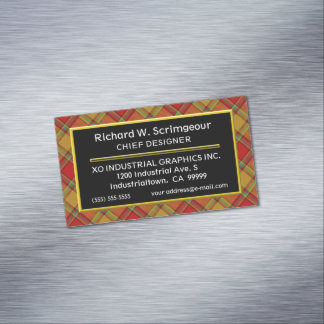 Scottish Accent Clan Scrymgeour Tartan Magnetic Business Card