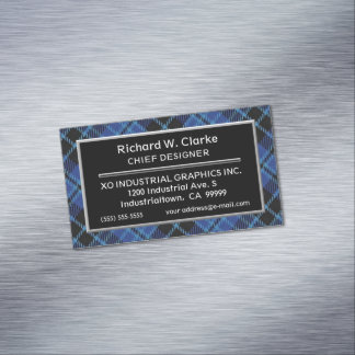 Scottish Accent Clergy Tartan Magnetic Business Card
