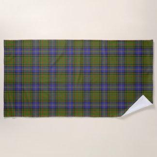 Scottish Accents Clan MacMillan Hunting Tartan Beach Towel