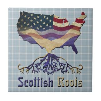Scottish American Design Ceramic Tile