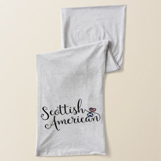 Scottish American Entwined Hearts Scarf
