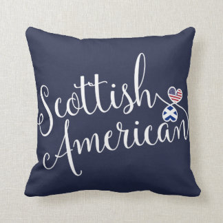 Scottish American Entwined Hearts Throw Cushion