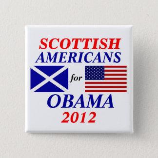 Scottish americans for Obama 2 Inch Square Button