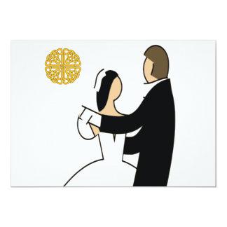 Scottish and Celtic Couple Wedding Theme Card
