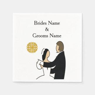 Scottish and Celtic Couple Wedding Theme Disposable Napkin