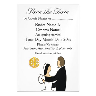 Scottish and Celtic Couple Wedding Theme Magnetic Card