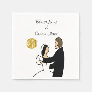 Scottish and Celtic Couple Wedding Theme Paper Napkin