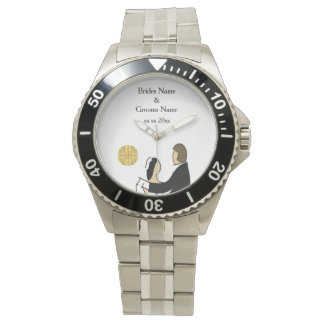Scottish and Celtic Couple Wedding Theme Wristwatches