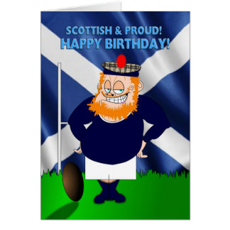 Scottish and Proud Rugby Birthday Card